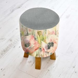 an image of a floral footstool